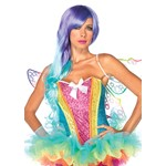 Womens Sexy Sequin Rainbow Corset Costume Accessory