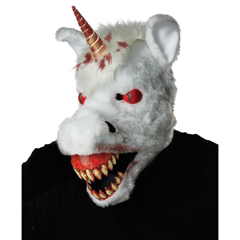 adult evil unicorn scary ani-motion mask – unicorn costume