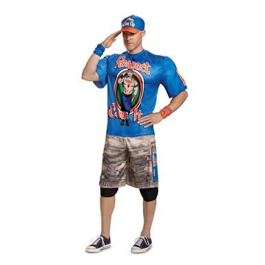 Mens John Cena Blue R.E.I. Muscle WWE Wrestler Costume  sc 1 st  Costume Kingdom & Mens John Cena Classic Muscle WWE Wrestler Costume u2013 WWE Halloween ...