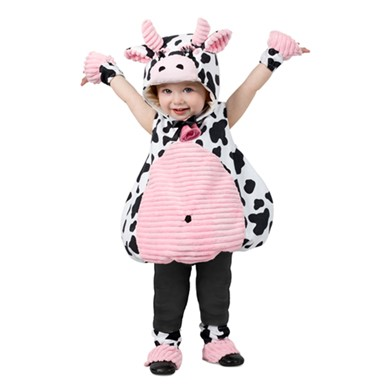 infant pink belly cow halloween costume