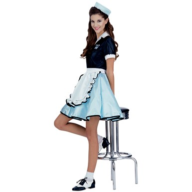 50s Favorites Car Hop Girl Womens Costume