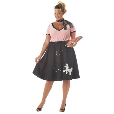 50s Sweetheart Womens Plus Size Halloween Costume