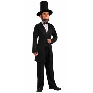 Abraham Lincoln Mens Halloween Costume up to 42