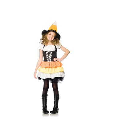 Adorable Kandy Korn Witch Kids Hallloween Costume