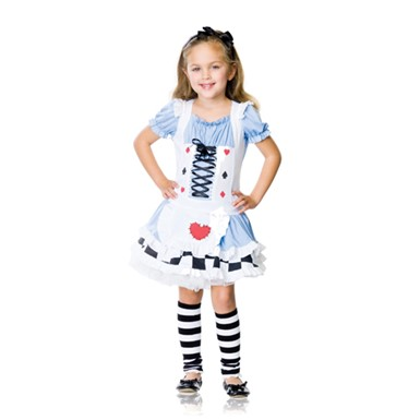 Adorable Miss Wonderland Kids Halloween Costume
