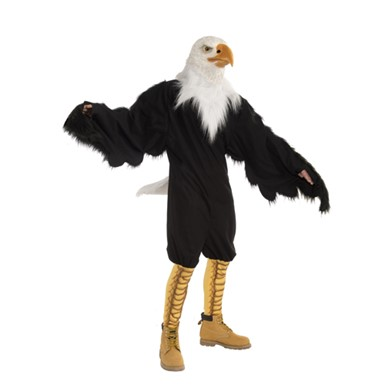 Adult American Eagle Costume With Latex Mask