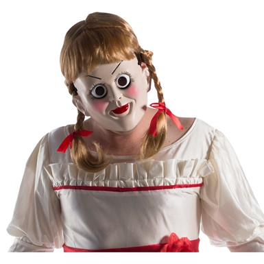Adult Annabelle Horror Mask with Hair