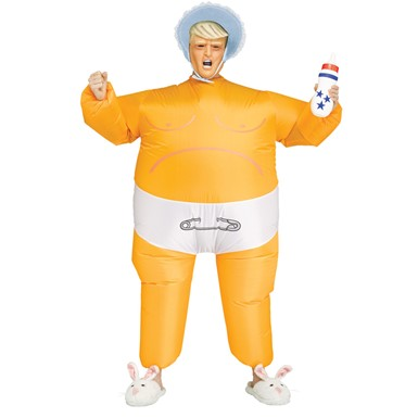 Adult Baby Prez Inflatable Trump Costume