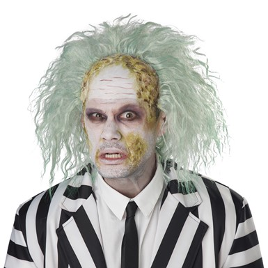 Adult Beetlejuice Obnoxious Ghost Bald Cap Costume Wig