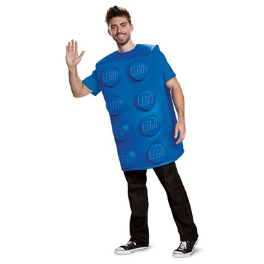 Adult Blue Lego Brick Halloween Costume
