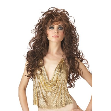 Adult Brown Seduction Wig for Halloween costume