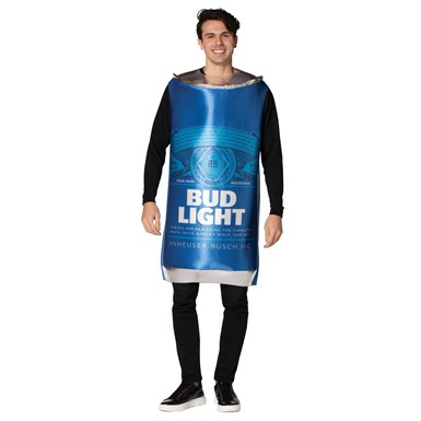 Adult Bud Light Beer Can Budweiser Halloween Costume