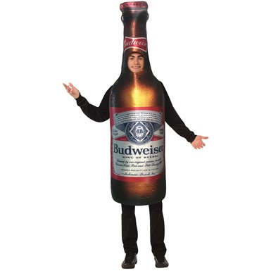 Adult Budweiser Beer Bottle Halloween Costume