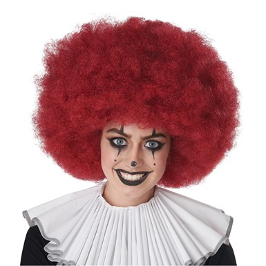 Adult Burgundy Jumbo Afro Wig for Clown Costume