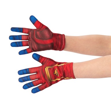Adult Captain Marvel Red Superhero Gloves
