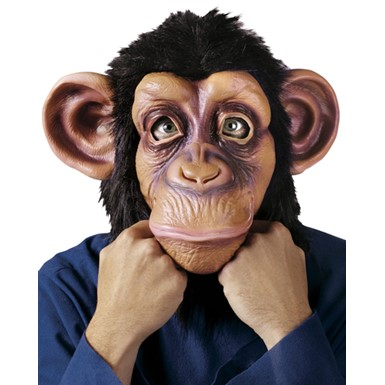 Adult Chimp Jungle Animal Halloween Mask