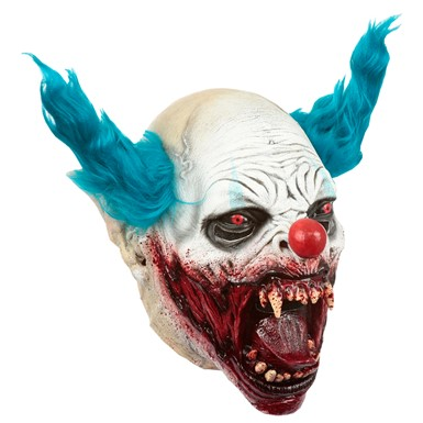 Adult Clown Vampire Scary Latex Mask