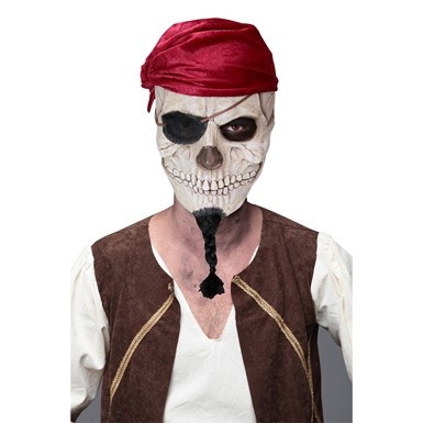 Adult Dead Pirate Skull Halloween Mask