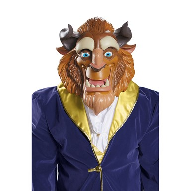 Adult Deluxe Beast Full Face Vinyl Mask for Costume