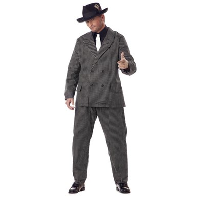 Adult Gangster Suit Big & Tall Halloween Costume