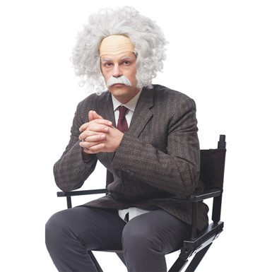 Adult Genius Einstein Wig & Moustache Kit