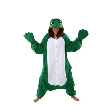 Adult Green Frog Animal Halloween Costume size Standard