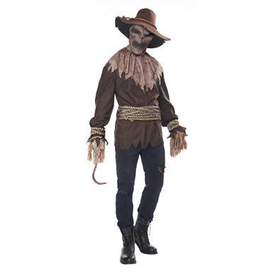 Adult Killer In The Cornfield Scary Scarecrow Costume