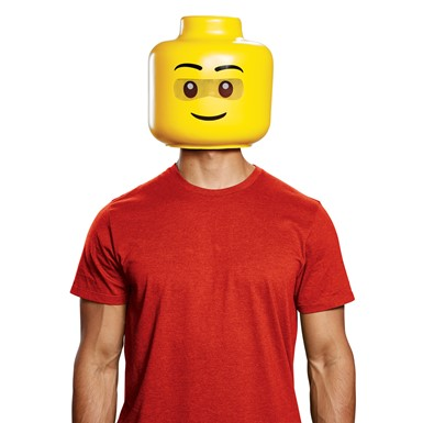 Adult LEGO Guy Full Head Mask