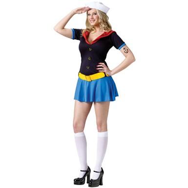 adult ms popeye tv superhero cartoon halloween costume