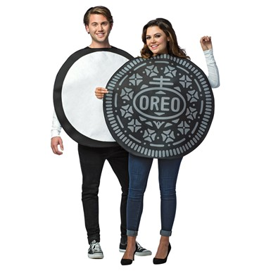 Adult Oreo Cookie Couples Halloween Costume