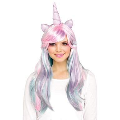 adult pastel unicorn horn costume wig