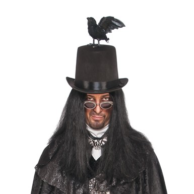 Adult Raven Halloween Top Hat