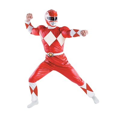 Adult Red Ranger Classic Standard Costume