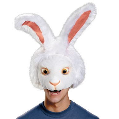 Adult White Rabbit Costume Headpiece