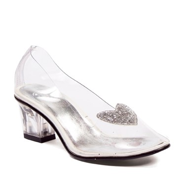 "Ariel Girls Clear 2"" Heel Shoes"