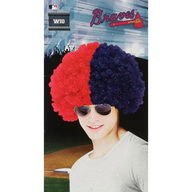 Atlanta Braves Wig MLB Baseball Halloween Accessory
