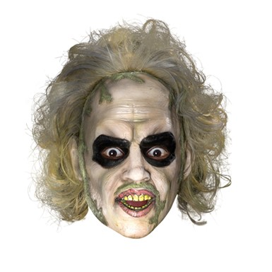 Beetlejuice 3/4 Vinyl Mask W/ Hair Accessory