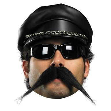 Biker Mustache for Adult Halloween Costume  sc 1 st  Costume Kingdom & Biker Mustache - Mens Halloween Costumes