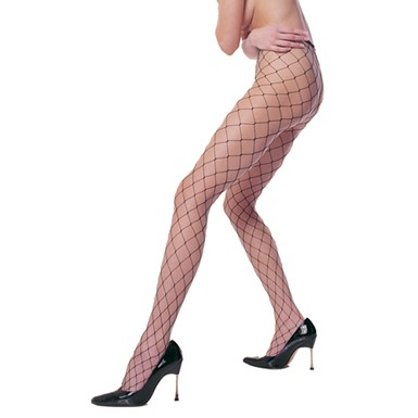Black Fence Net Pantyhose for Costume Fishnets