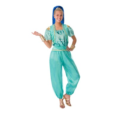 Blue Womens Shimmer and Shine Deluxe Halloween Costume