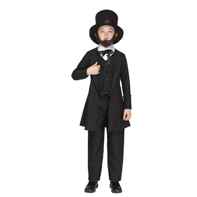 Boys Abe Lincoln American President Costume