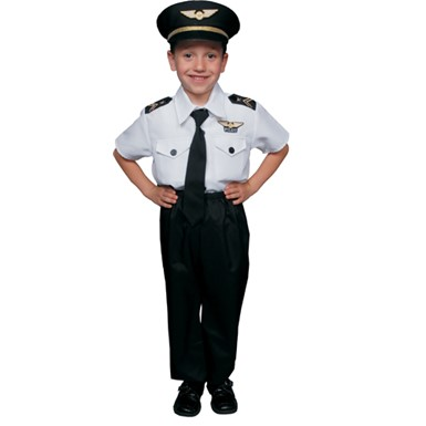 Boys Airline Pilot Fun Halloween Costume