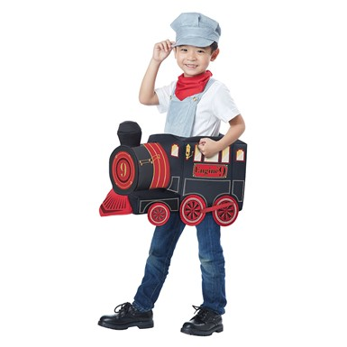 Boys All Aboard Train Conductor Costume size M/L 3T-6T