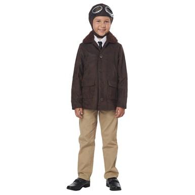 Boys American Aviator Pilot Uniform Costume