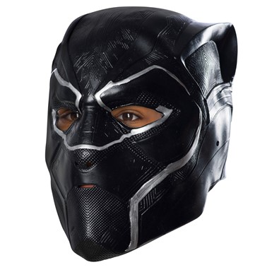 Boys Black Panther 3/4 Vinyl Halloween Mask
