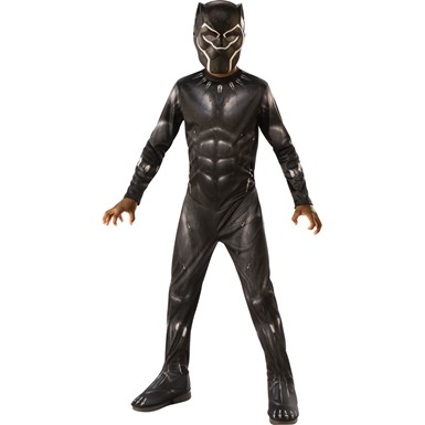 Boys Black Panther Movie Superhero Costume