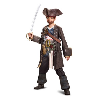 Boys Captain Jack Prestige Pirate Halloween Costume