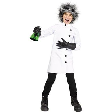 Boys Crazed Scientist Child Halloween Costume