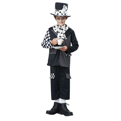 Boys Dark Mad Hatter Halloween Costume