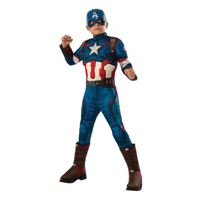 Boys Deluxe Captain America Retro Costume
